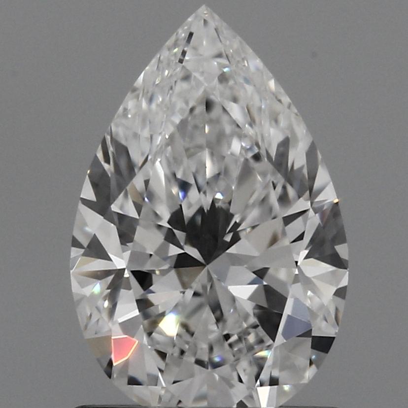 0.91 Carat D-VVS2 Excellent Pear Diamond