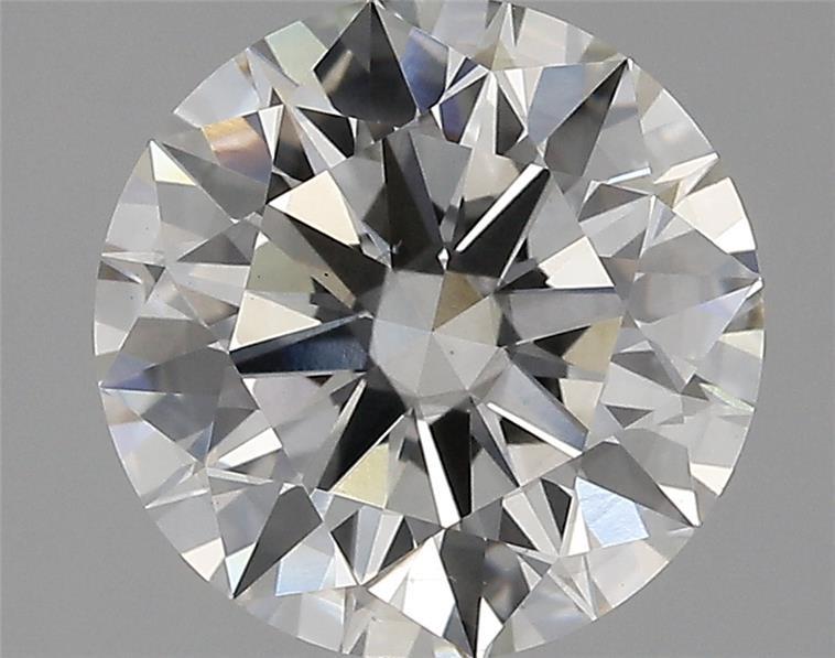 3.08 Carat I-SI1 Ideal Round Diamond